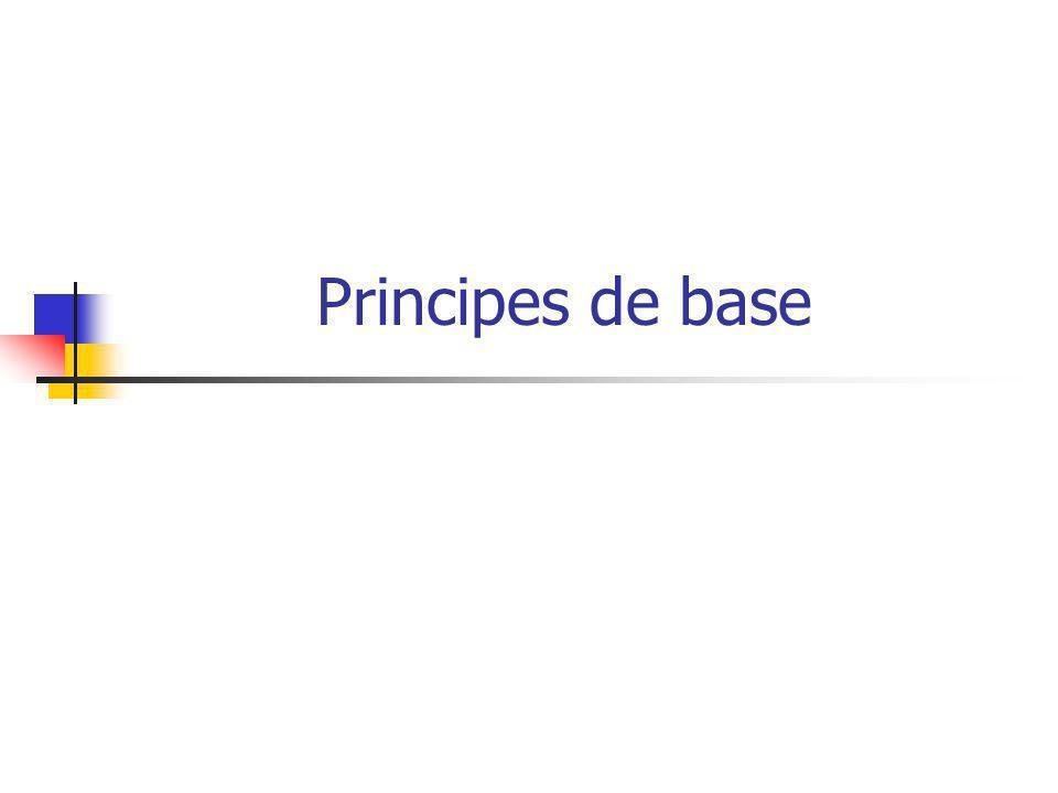 Principes de base