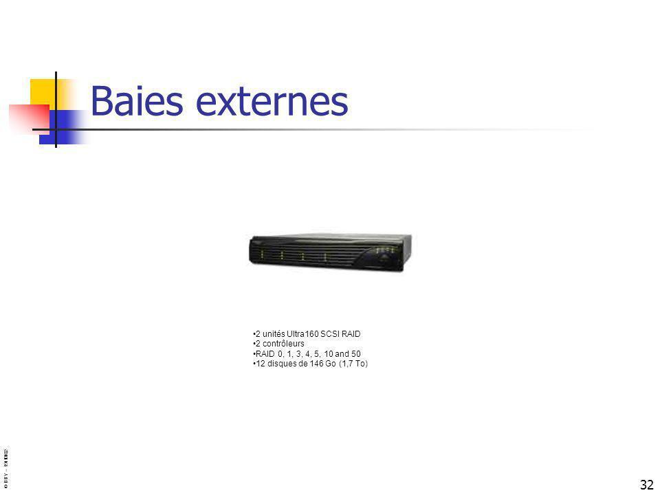 Baies externes 2 unités Ultra160 SCSI RAID 2 contrôleurs