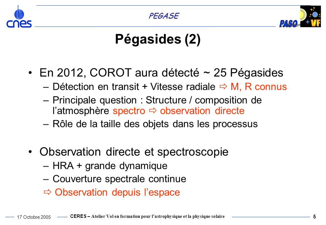 Pégasides (2) En 2012, COROT aura détecté ~ 25 Pégasides