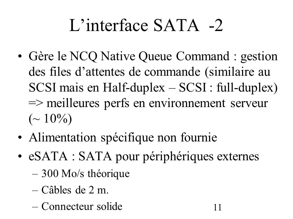 L'interface SATA -2