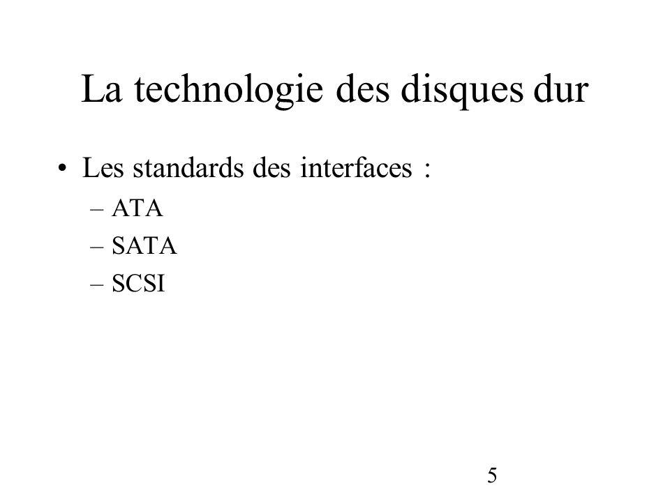 La technologie des disques dur