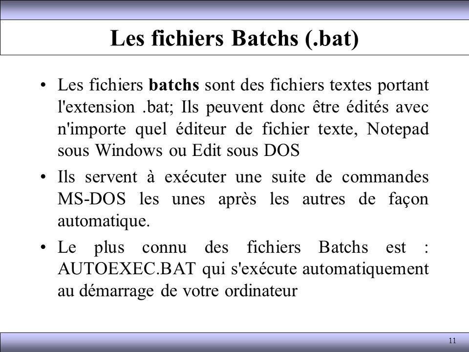 Les fichiers Batchs (.bat)