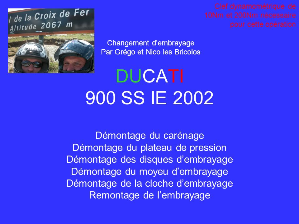 DUCATI 900 SS IE 2002 Démontage du carénage