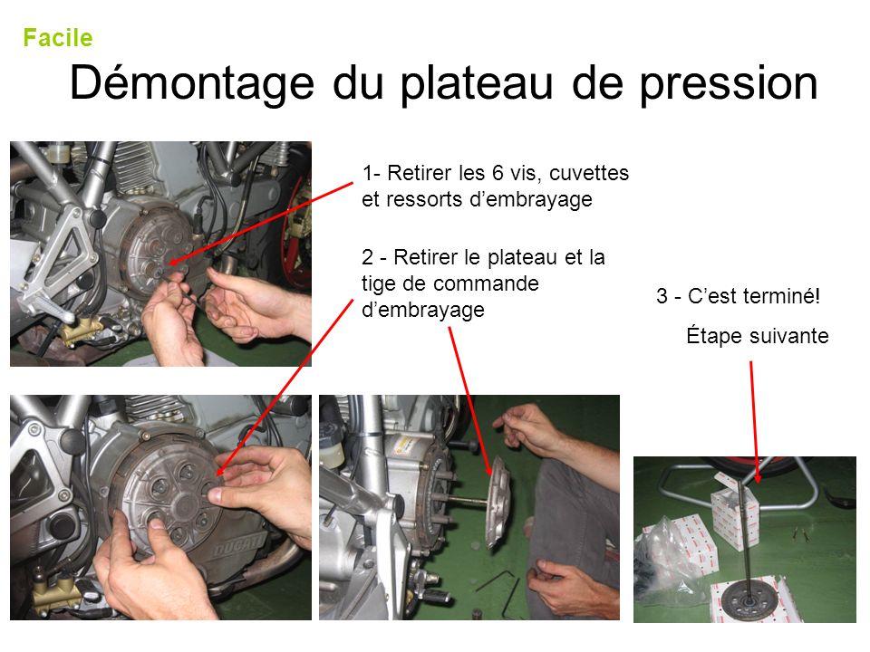 Démontage du plateau de pression