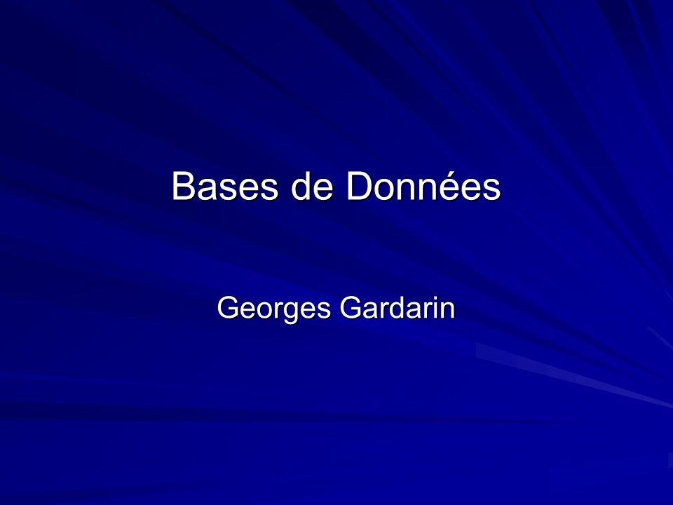 Bases de Données Georges Gardarin