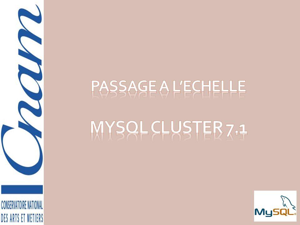 PASSAGE A L'ECHELLE MySQL CLUSTER 7.1