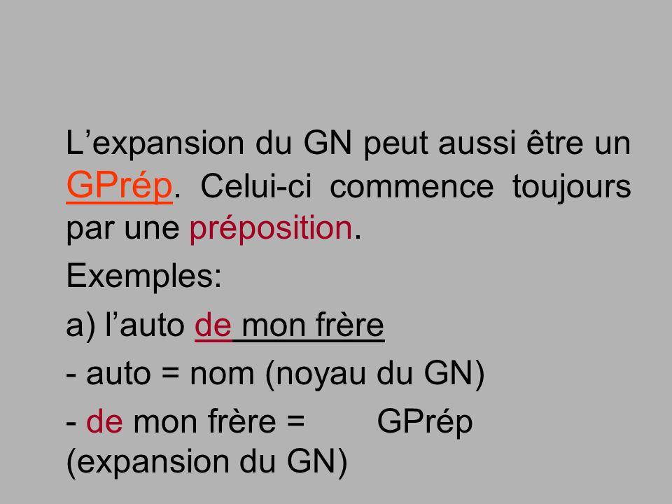 L'expansion du GN peut aussi être un GPrép