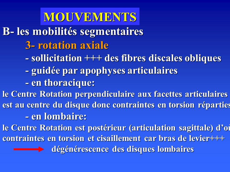 MOUVEMENTS B- les mobilités segmentaires 3- rotation axiale