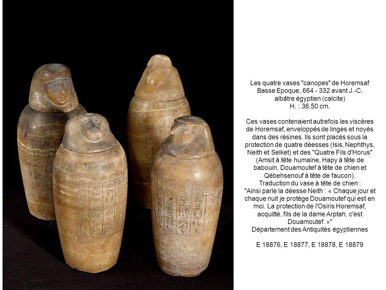 Les quatre vases canopes de Horemsaf