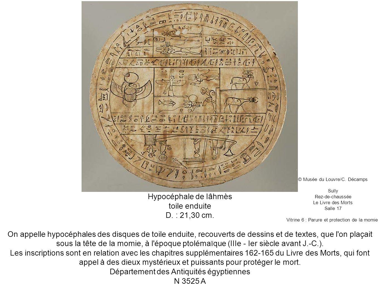 Département des Antiquités égyptiennes N 3525 A