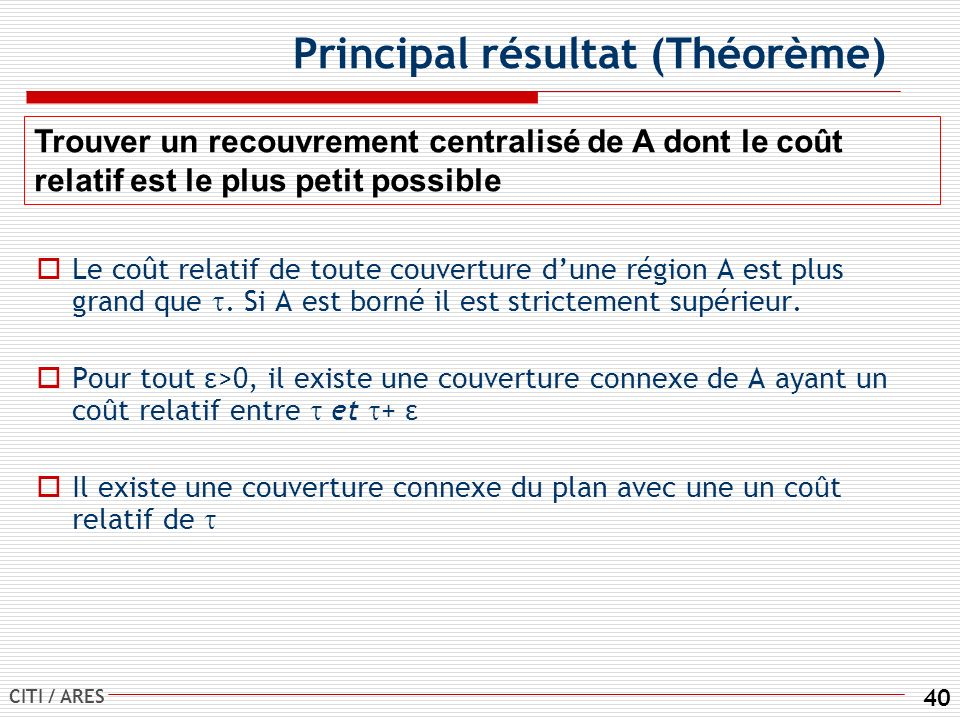 Principal résultat (Théorème)