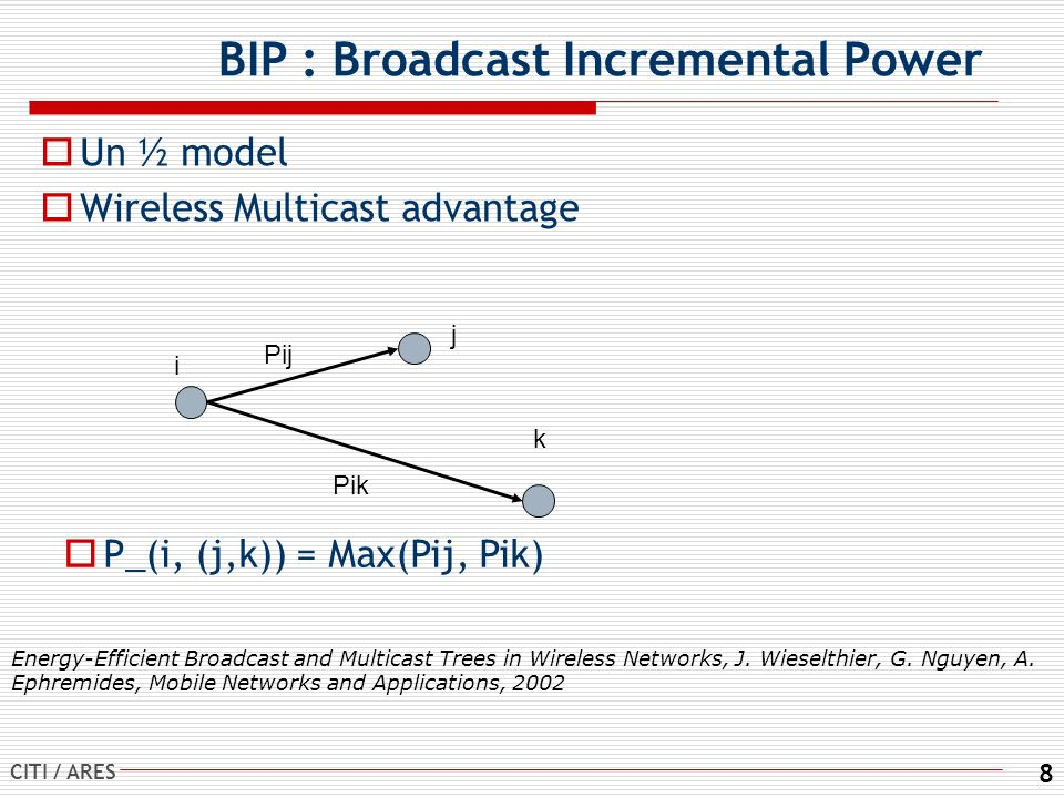 BIP : Broadcast Incremental Power