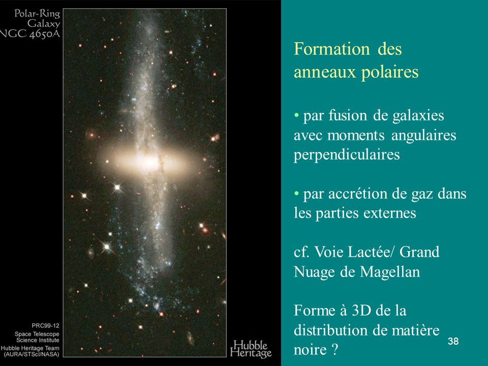 Formation des anneaux polaires par fusion de galaxies
