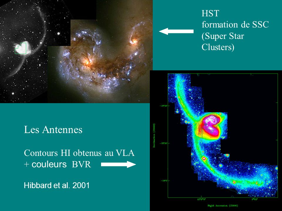 Les Antennes HST formation de SSC (Super Star Clusters)