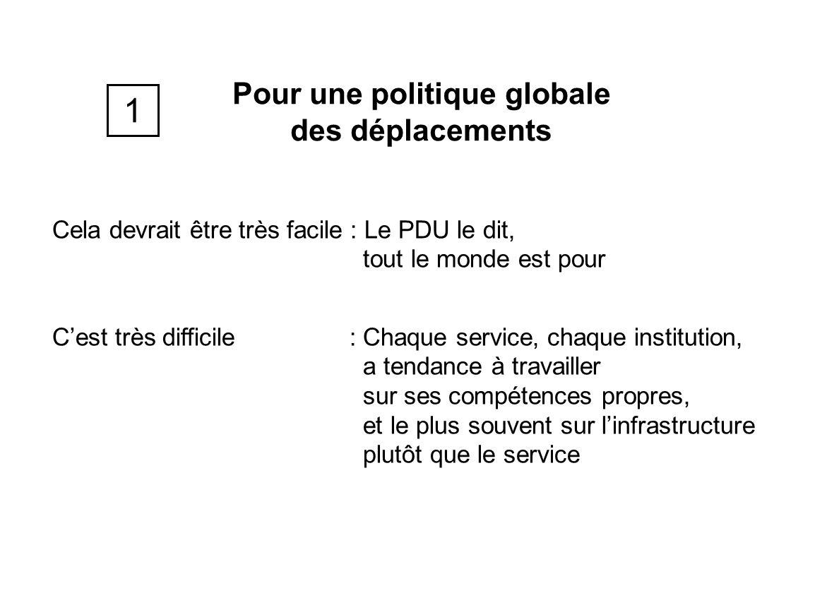 Pour une politique globale