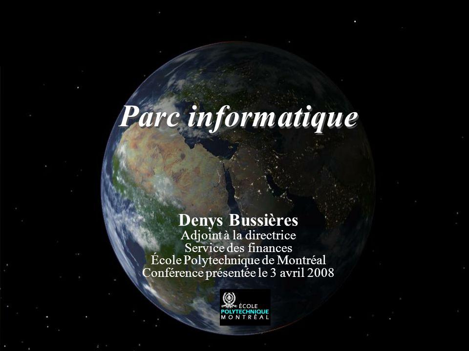 Parc informatique Denys Bussières Adjoint à la directrice