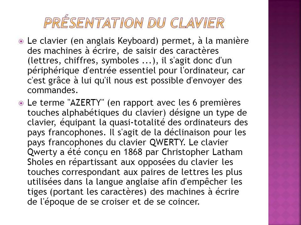 Présentation du clavier