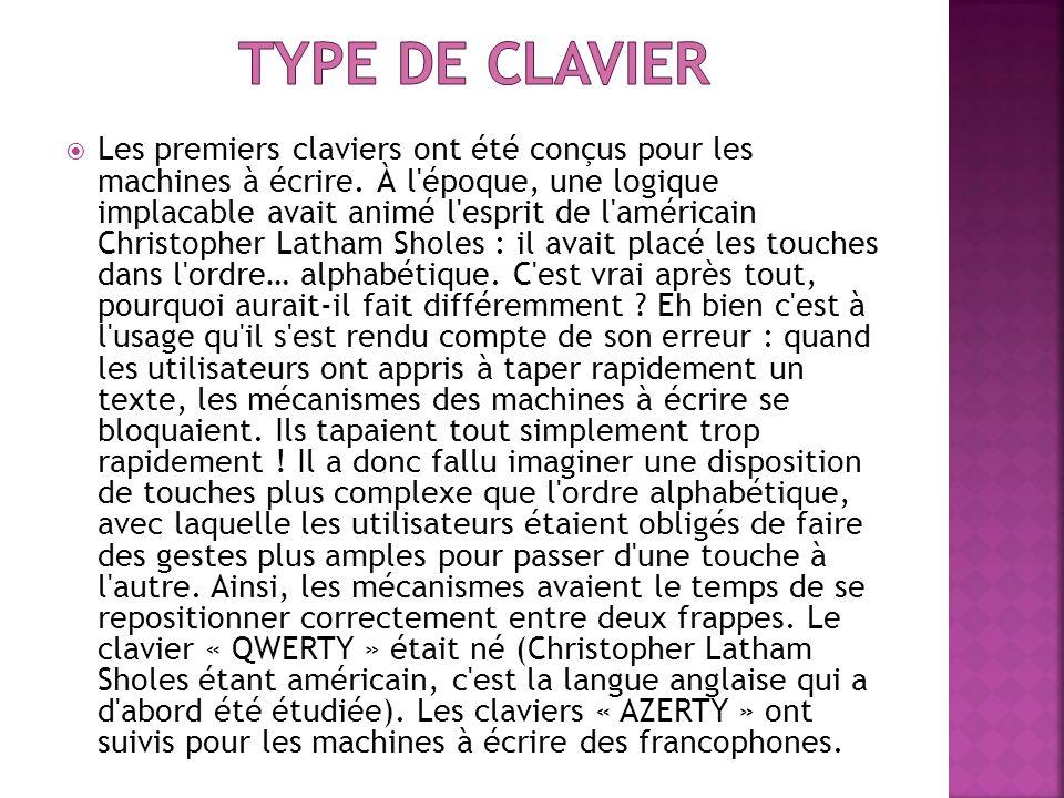 Type de clavier