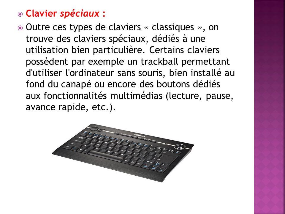 Clavier spéciaux :