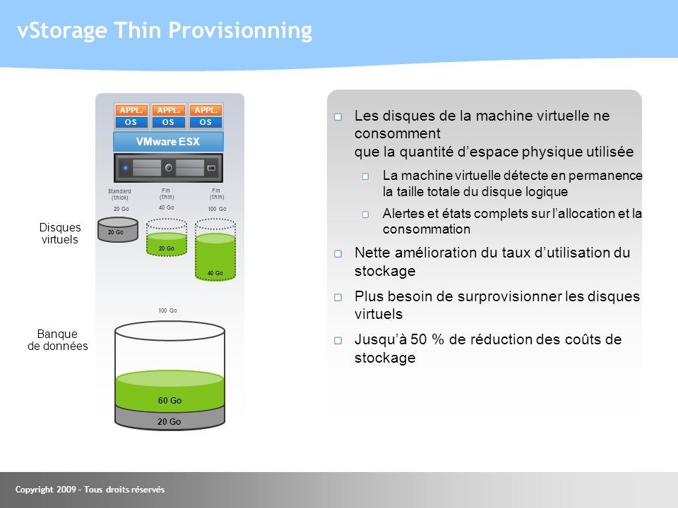 vStorage Thin Provisionning