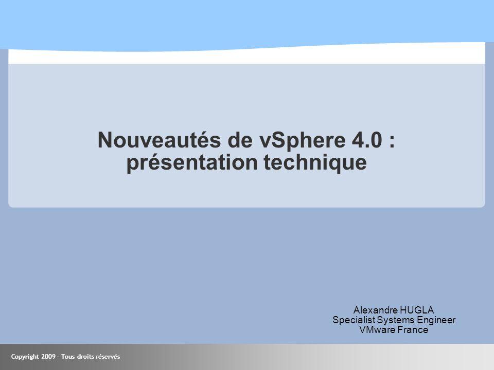 Nouveautés de vSphere 4.0 : présentation technique