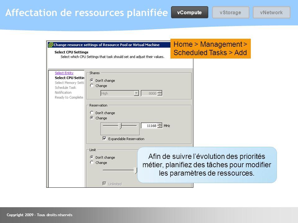 Affectation de ressources planifiée