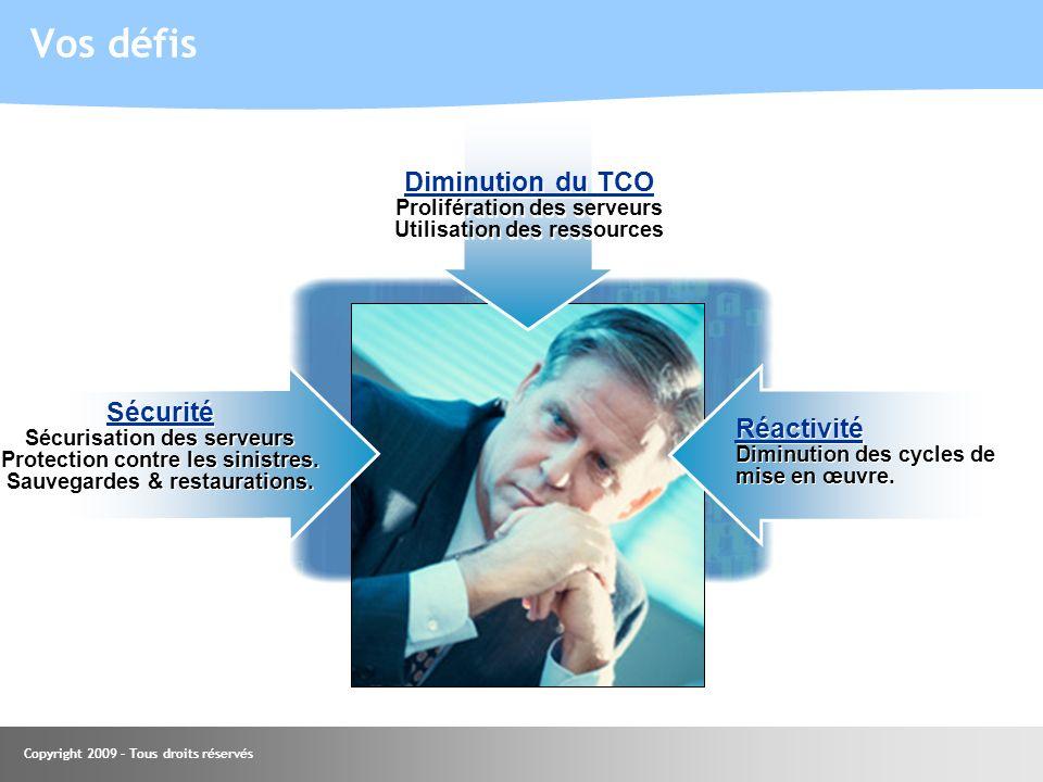 Vos défis Diminution du TCO Sécurité Réactivité