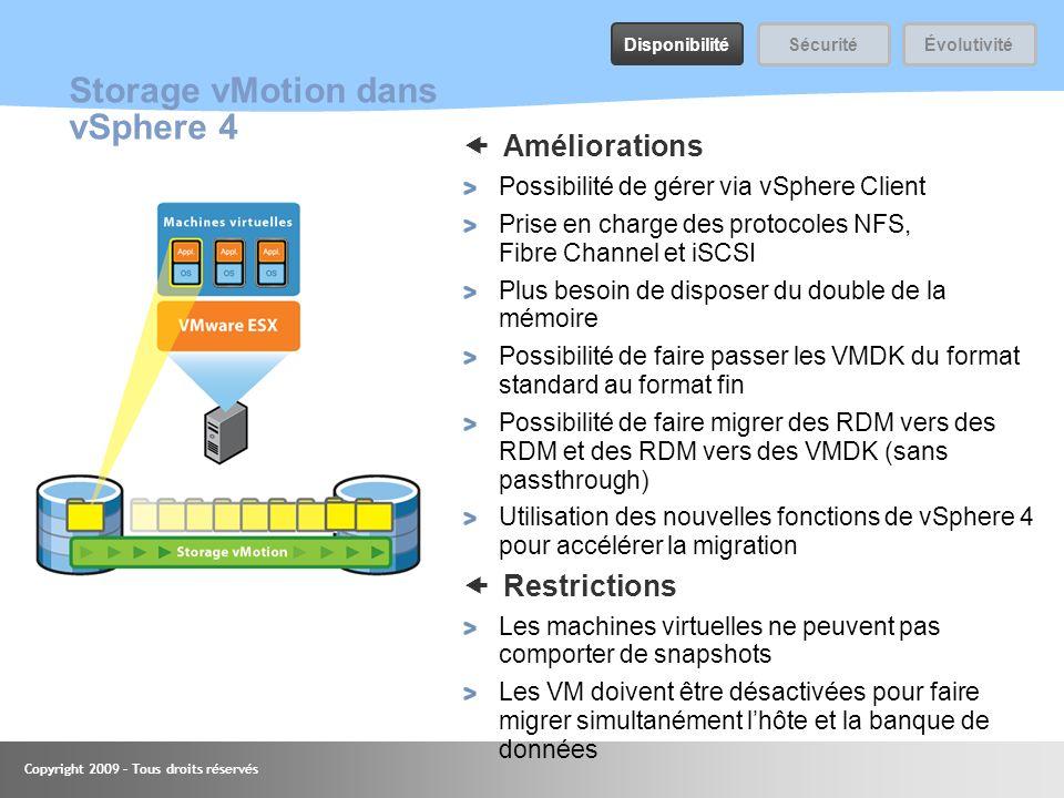 Storage vMotion dans vSphere 4