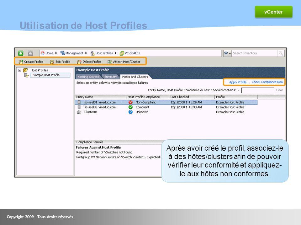 Utilisation de Host Profiles