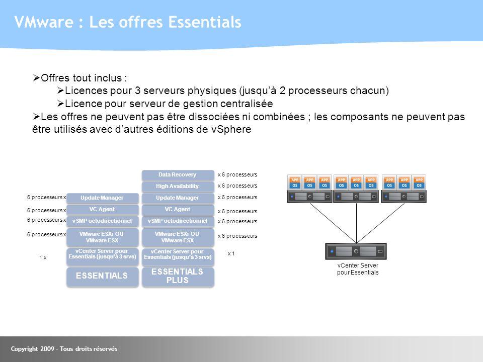 VMware : Les offres Essentials