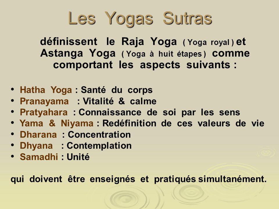 Les Yogas Sutras