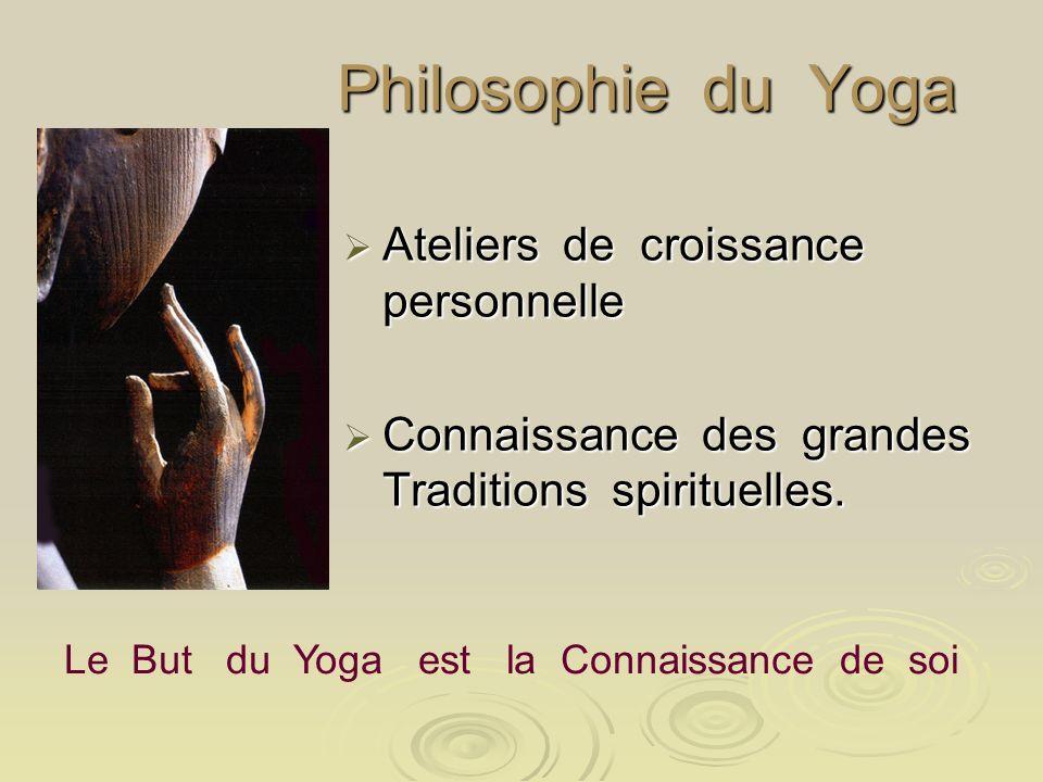 Philosophie du Yoga Ateliers de croissance personnelle