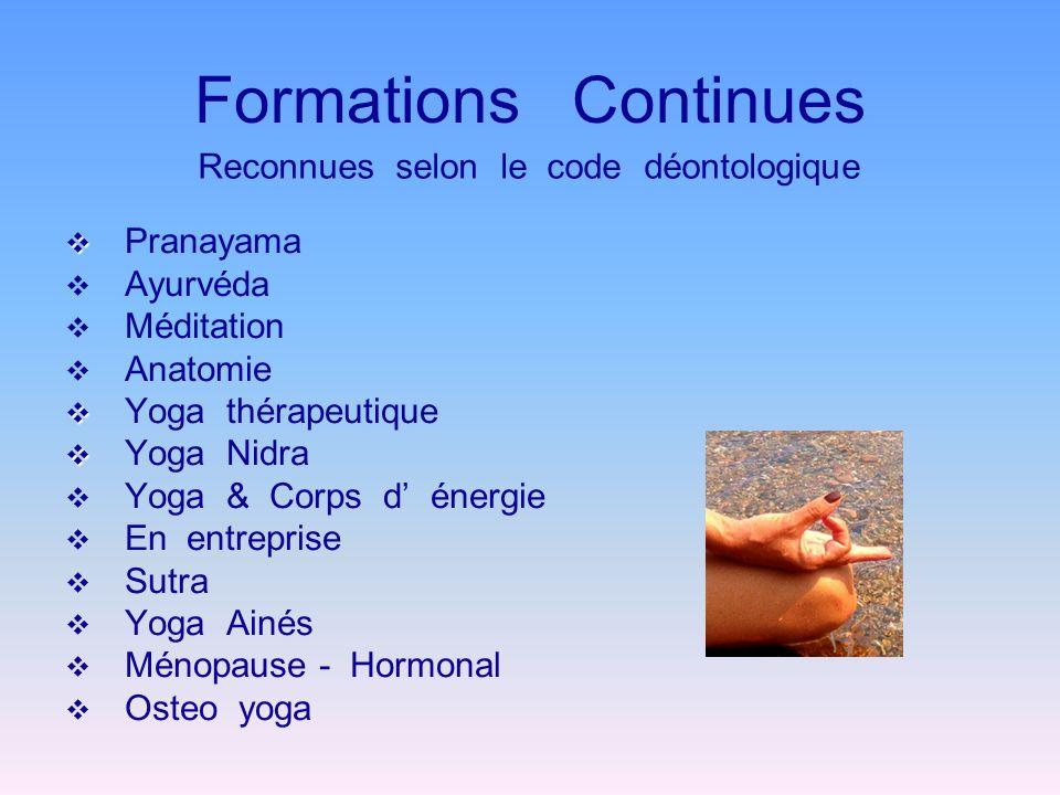 Formations Continues Pranayama Ayurvéda Méditation Anatomie