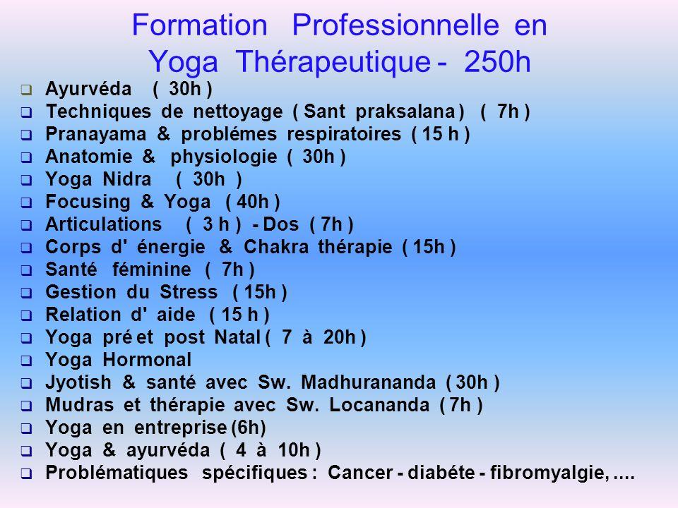 Formation Professionnelle en Yoga Thérapeutique - 250h
