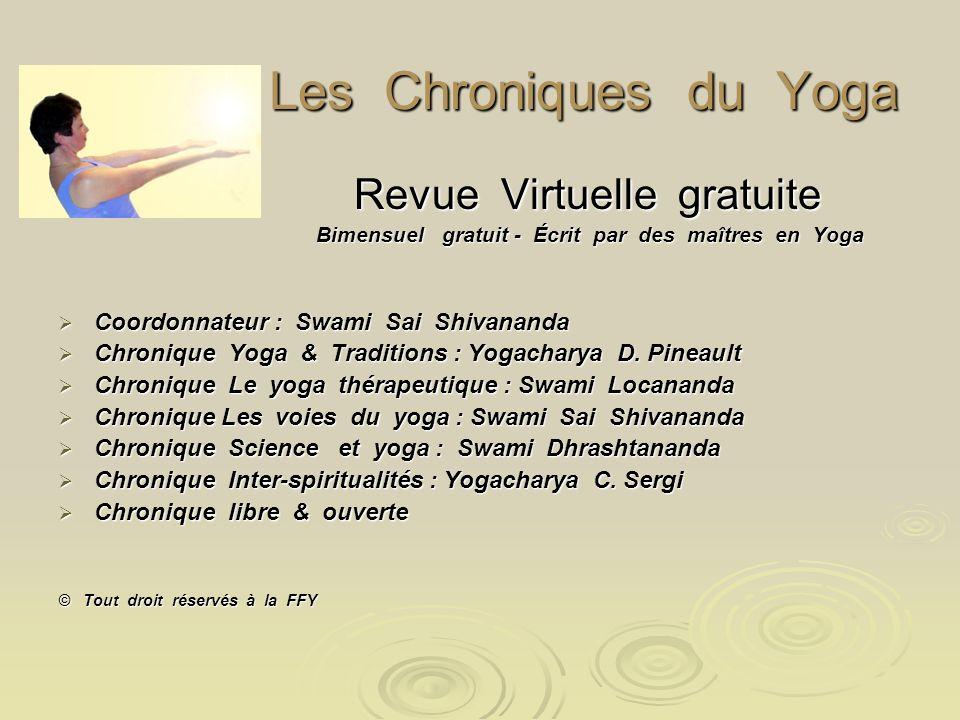 Les Chroniques du Yoga Revue Virtuelle gratuite
