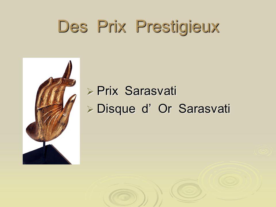 Des Prix Prestigieux Prix Sarasvati Disque d' Or Sarasvati
