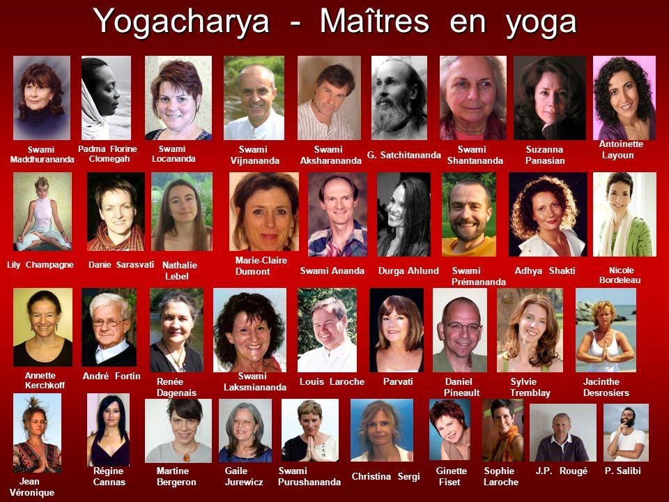 Yogacharya - Maîtres en yoga