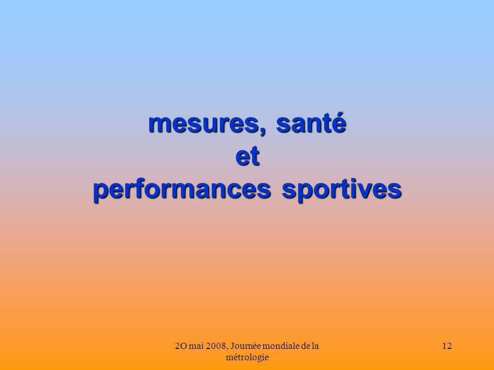 mesures, santé et performances sportives