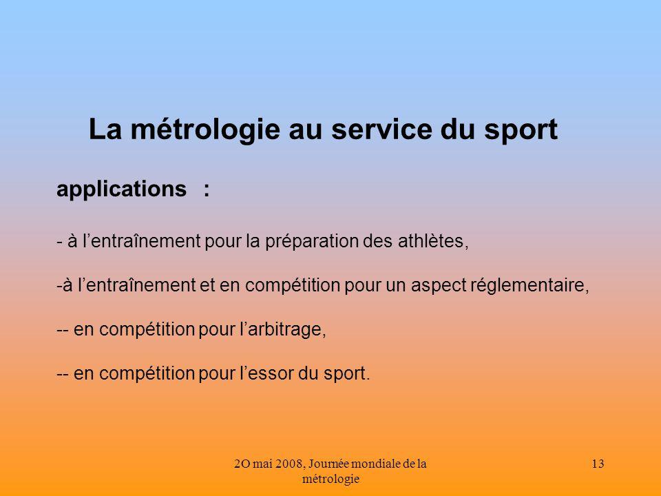 La métrologie au service du sport