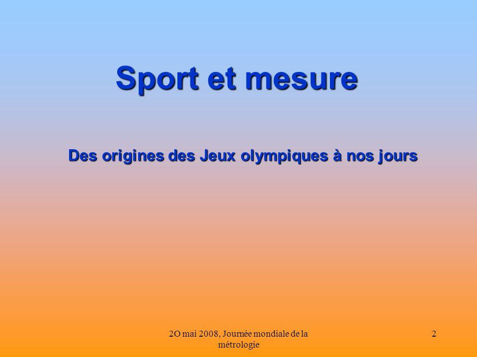Des origines des Jeux olympiques à nos jours