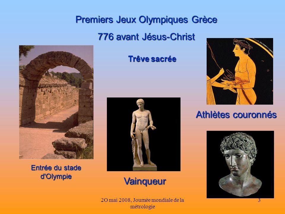 Premiers Jeux Olympiques Grèce 776 avant Jésus-Christ