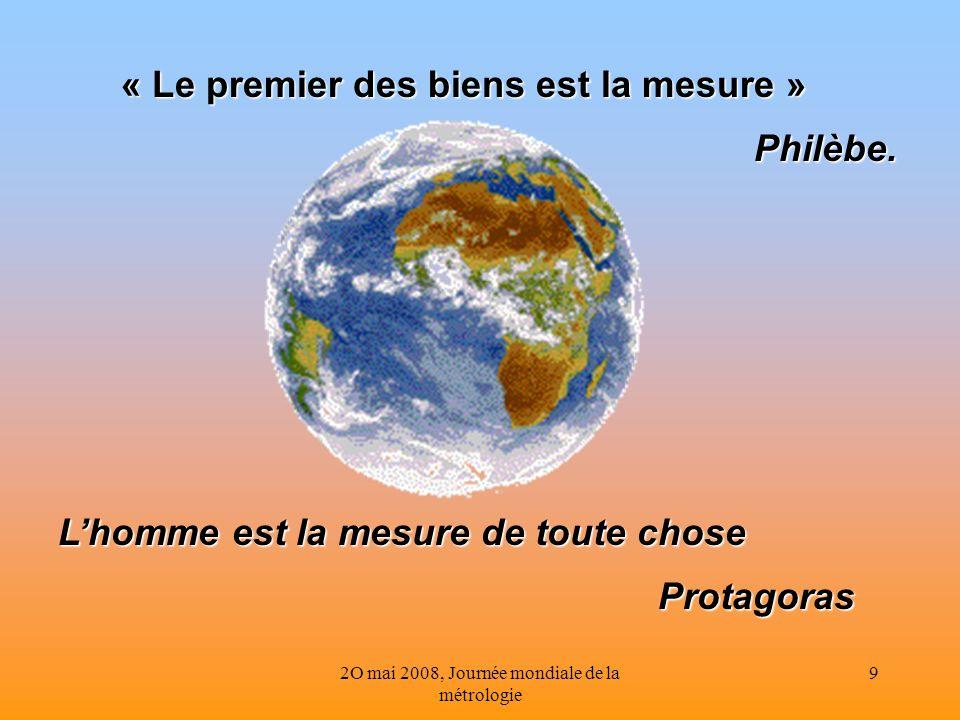 « Le premier des biens est la mesure »