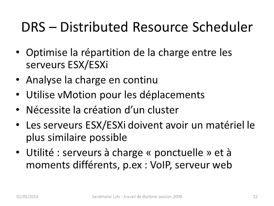 DRS – Distributed Resource Scheduler