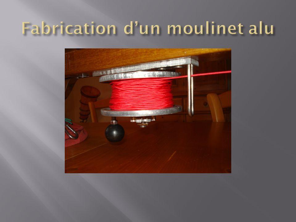 Fabrication d'un moulinet alu