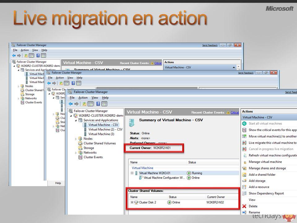 Live migration en action