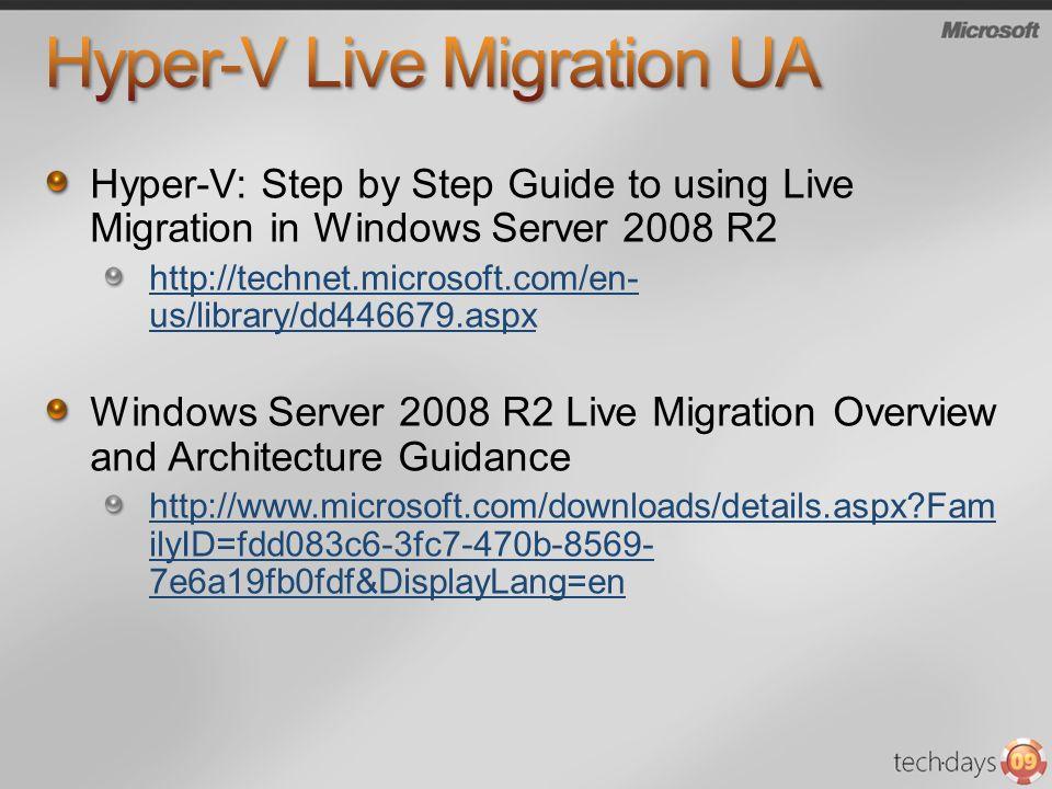 Hyper-V Live Migration UA