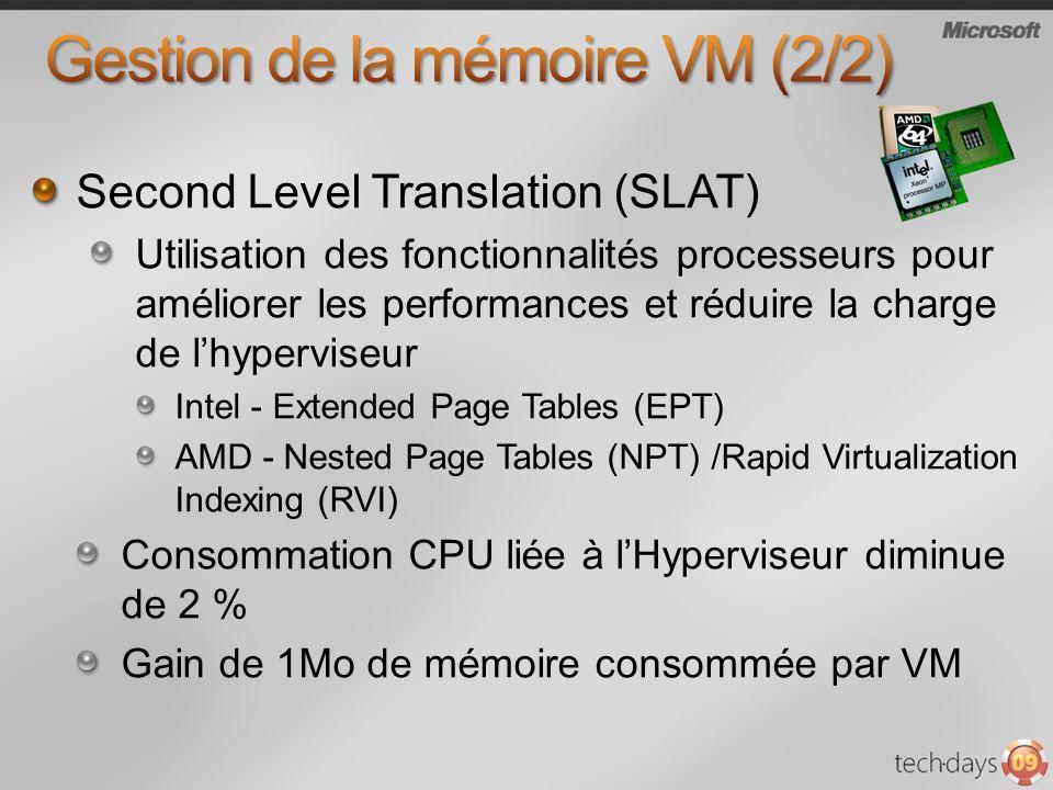 Gestion de la mémoire VM (2/2)