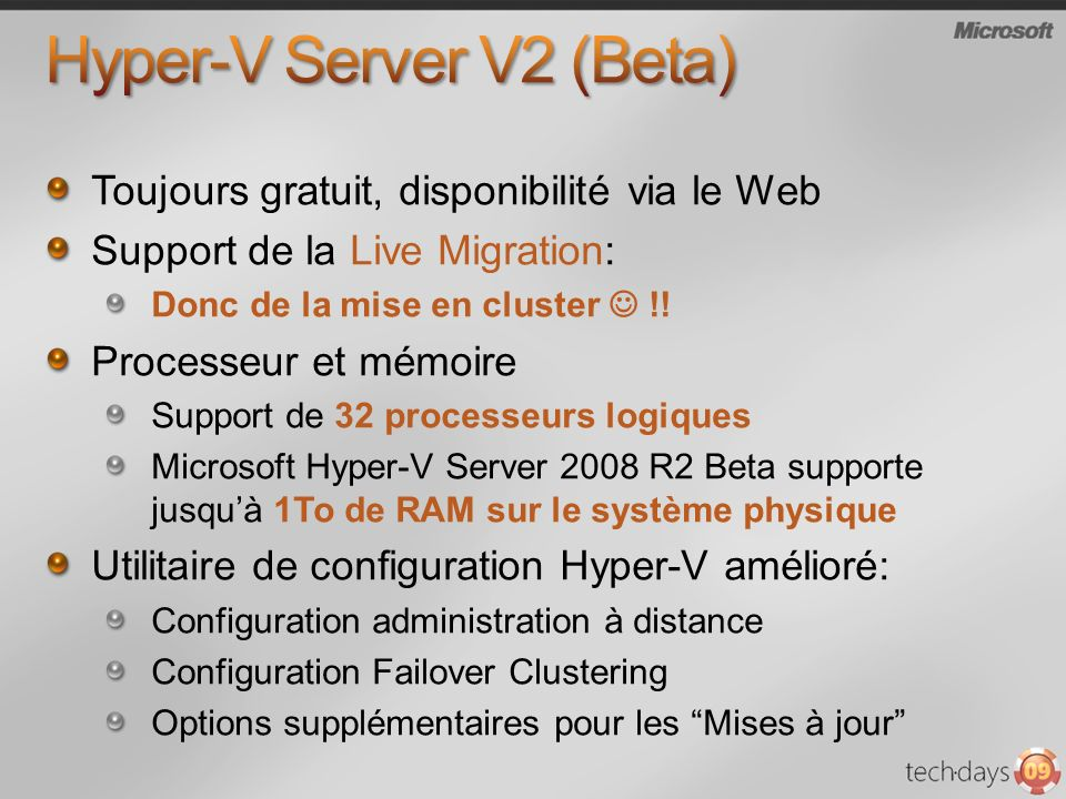 Hyper-V Server V2 (Beta)