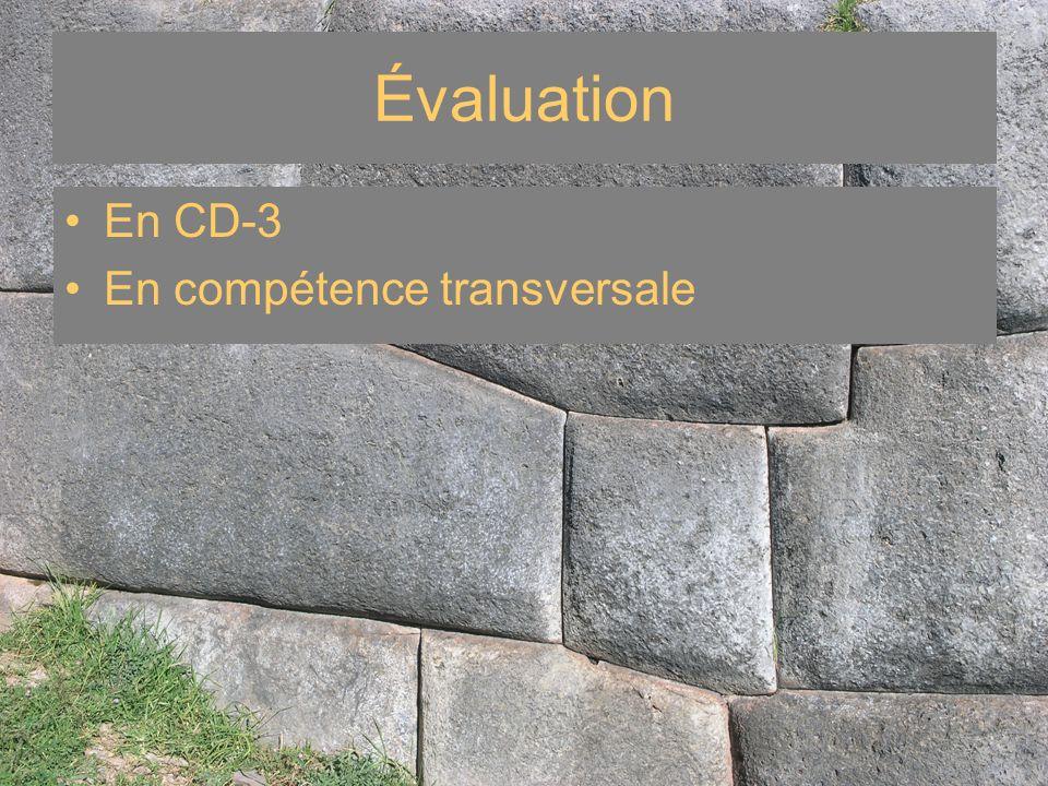 Évaluation En CD-3 En compétence transversale