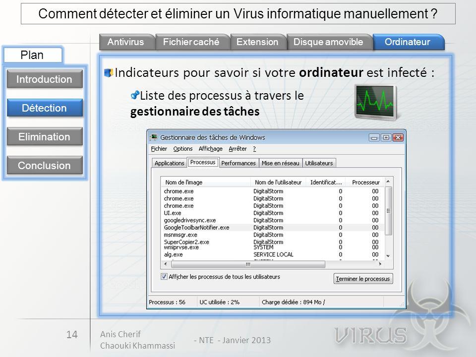 Comment détecter et éliminer un Virus informatique manuellement